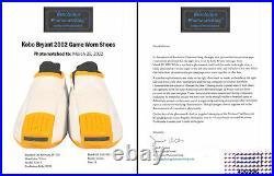 Lakers Kobe Bryant Signed 2002 Game Worn Kobe 2 Adidas Shoes Photo Matched BAS