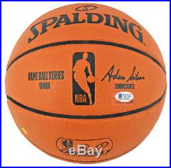 Lakers Magic Johnson Signed Spalding Basketball with Gold Signature BAS Witnessed