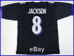 Lamar Jackson Signed Autographed Black Ravens Pro Style Jersey JSA COA