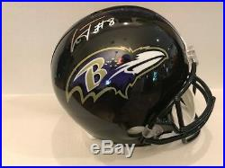 Lamar Jackson Signed Baltimore Ravens Full Size Helmet COA Hologram Heisman 16