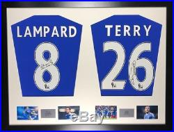 Lampard and Terry Chelsea framed signed shirt display