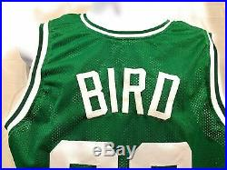 Larry Bird Boston Celtics Signed Autograph Custom Jersey Green Bird Hologram Cer
