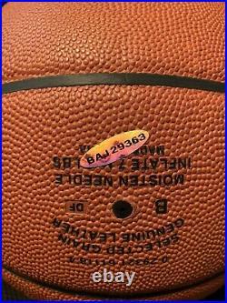 LeBRON JAMES SIGNED BASKETBALL UDA Upper Deck COA NBA -LAKERS