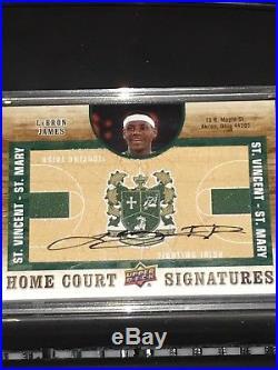 LeBron James Signed Auto 2011-12 Upper Deck Home Court Signatures Autograph