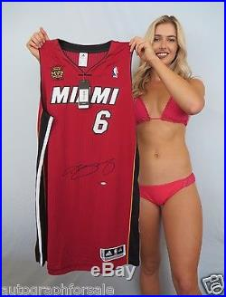 LeBron James signed auto Miami Heat Finals MVP authentic game jersey UDA #1/25