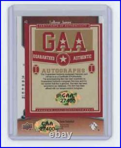 Lebron James 2009-10 Upper Deck Greats Of The Game #40 Signed Autographed
