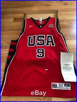 Lebron James UDA Upper Deck Signed Autograph Red USA Game-Issued Jersey 91/123