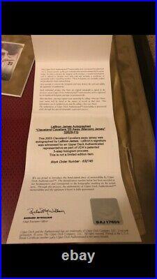 Lebron James signed 2003 rookie Cleveland Cavaliers jersey UDA COA Upper Deck