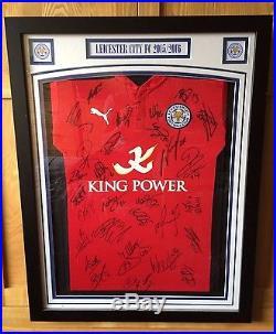 Leicester City 2015 16 Premier League Champions Team Signed Shirt ... 04978e179