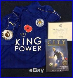 Leicester City Danny Drinkwater Signed Match Worn Poppy shirt
