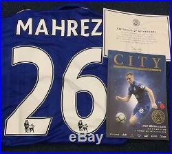 Leicester City Riyad Mahrez Signed Match Worn Poppy shirt