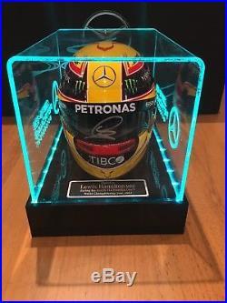 Lewis Hamilton signed Helmet 12 Scale