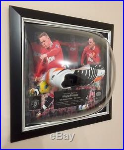 Limited edition Manchester United Hand Signed Wayne Rooney Boot Framed