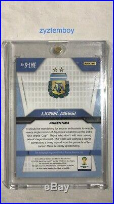 Lionel Messi 2014 Panini Prizm World Cup Soccer Signed Auto Autograph