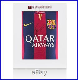 Lionel Messi Signed Barcelona Shirt 2014/2015 Gift Box Autograph Jersey