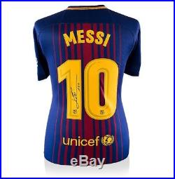 Lionel Messi Signed Barcelona Shirt 2017/2018 Number 10 Autograph Jersey