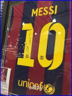 Lionel Messi Signed Number 10 Shirt Official Allstar Signings Memorabilia