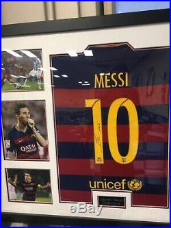 Lionel Messi Signed Shirt Framed COA Included
