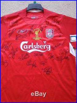 Liverpool Football Club Rare Istanbul 2005 UEFA Champions League Signed Shirt
