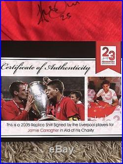 Liverpool Signed Replica 2005 Champions League Shirt