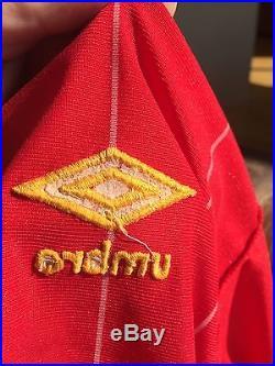 Lot 33 ORIGINAL Liverpool European Cup Final Shirt 1984 Umbro Large Signed