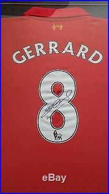 Luis Suarez & Steven Gerrard Dual Framed Hand Signed Liverpool Shirts 2014/2015