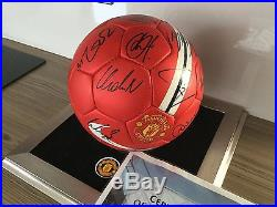 Manchester United Squad Signed Ball X21 Club Issued Certificate Inc Ronaldo