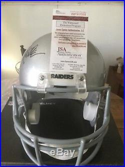 MARCUS ALLEN Autograph Signed Oakland Raiders Full Size Helmet JSA