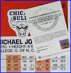 MICHAEL JORDAN Autographed Bulls Fleer Rookie Blow Up UDA