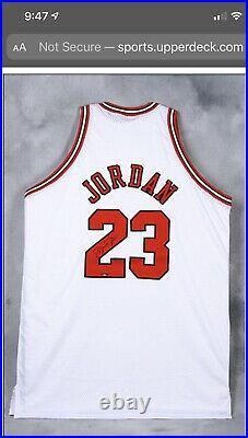 MICHAEL JORDAN Autographed Chicago Bulls White Authentic M&N Jersey UDA W Box