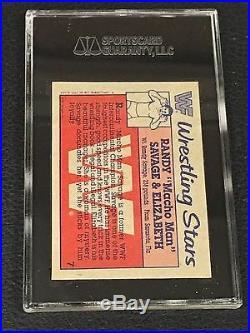 Macho Man Randy Savage & Elizabeth 1987 Topps Wwf Signed Autographed Card Sgc
