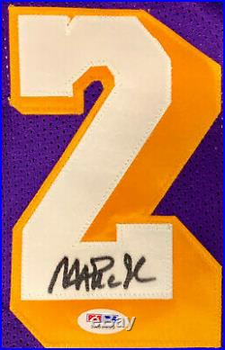 Magic Johnson Signed Purple Jersey Auto PSA DNA COA