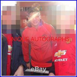 Man United 2016/17 Signed Shirt, 21, Rooney, Pogba, Rashford, Ibrahimovich Proof