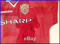 Man Utd 1998-1999 squad signed shirt autographed by twenty