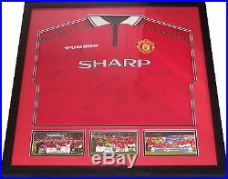 Manchester United 17 Signed Shirt 1999 Treble Beckham Giggs Keane Yorke Neville
