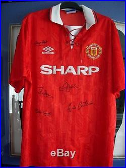 2aa27680b5c Manchester United George Best. Eric Cantona. David Beckham Signed Shirt