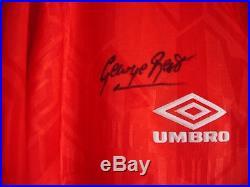 Manchester United George Best. Eric Cantona. David Beckham Signed Shirt