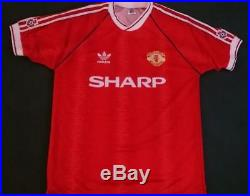 Manchester United Home 1990/92 Match Worn Shirt Bryan Robson Signed