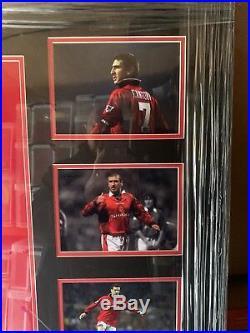 Manchester United Signed Eric Cantona Framed Shirt SUPERB ITEM Value @ £299