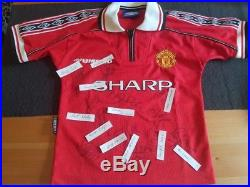 Manchester united signed 1999 treble shirt champions league 76f20eb3e