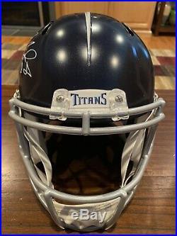 Marcus Mariota Signed Tennessee Titans Full Size Speed Helmet Witness JSA GTSM