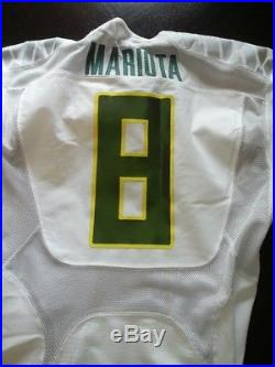 Marcus Mariota Team Issued Oregon Ducks Game Jersey Nike Signed Not Worn Used