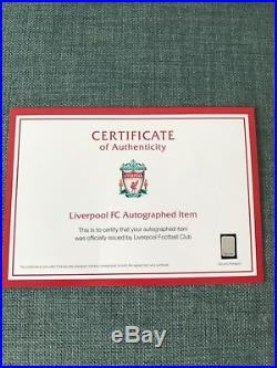 Match Worn Hand Signed James Milner Liverpool FC Poppy Shirt with COA