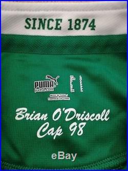 Mega Rare! - Ireland Brian O'driscoll Signed Match Worn Rugby Shirt /jersey