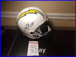 Melvin Gordon Signed San Diego Los Angeles Chargers Full Size Helmet Jsa