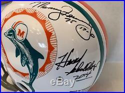 Miami Dolphins 1972 Team Signed RK Riddell Helmet Larry Csonka Griese TRI Star