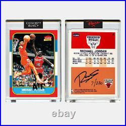Michael Jordan 1996 Fleer Rookie Card Reverse Dunk Art RENCY Signed & S/N of 230