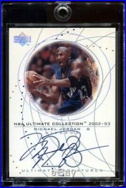 Michael Jordan 2002-03 UD Ultimate Signatures Autograph AUTO # MJ-S Signed Card