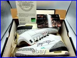 Michael Jordan 2013 Flight School Camp Autographed Shoe with Upper Deck C. O. A