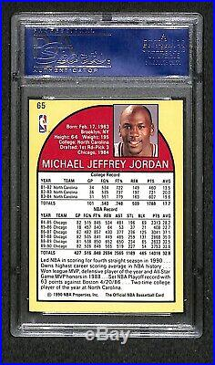 Michael Jordan Autographed 1990 Hoops Card Proof Psa/dna Very Rare Signed Card